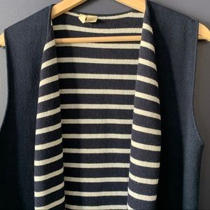 Anthropologie Navy Duster Sweater Vest - One Size